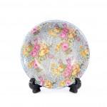 round floral dish