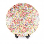 round floral plate
