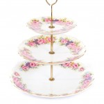 vintage floral cupcake stand