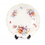 white with floral plate